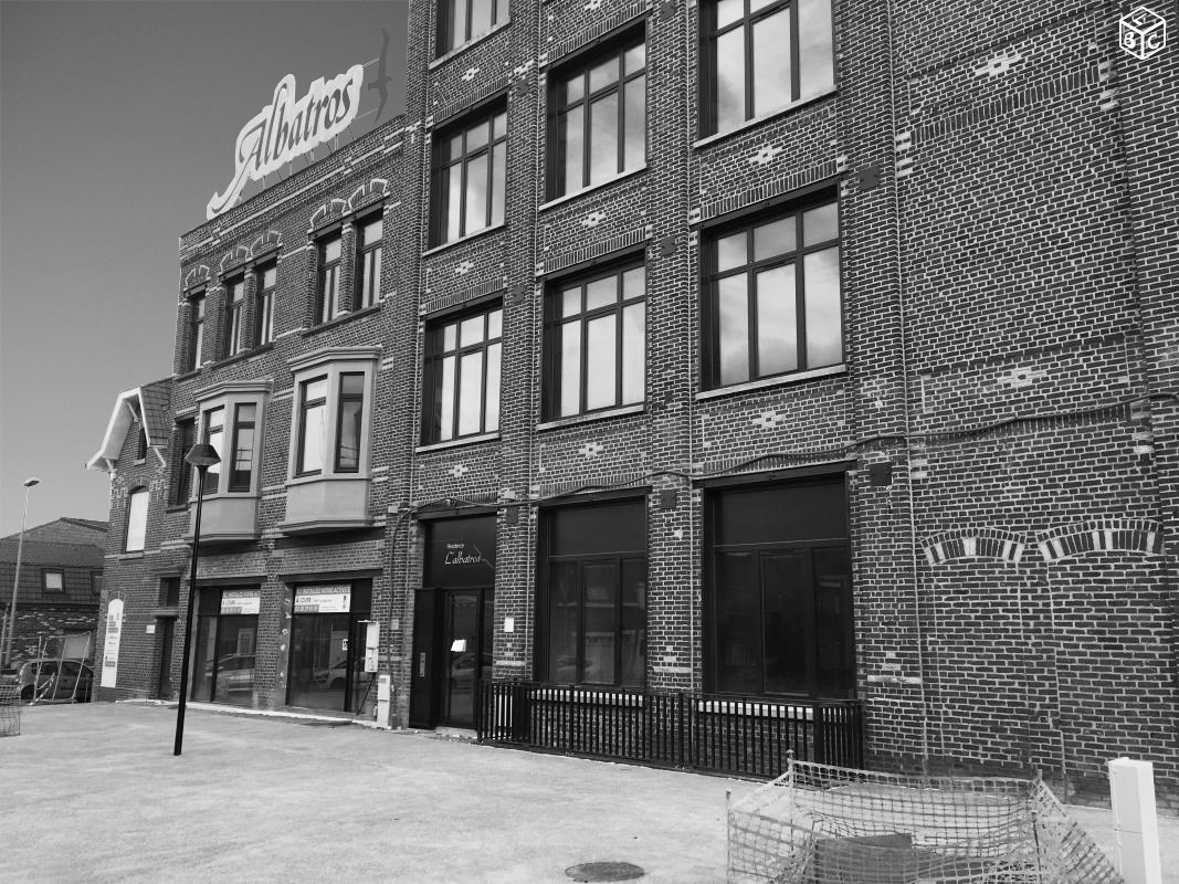 plateau brut à vendre, loft, bow window, bureau à louer tourcoing