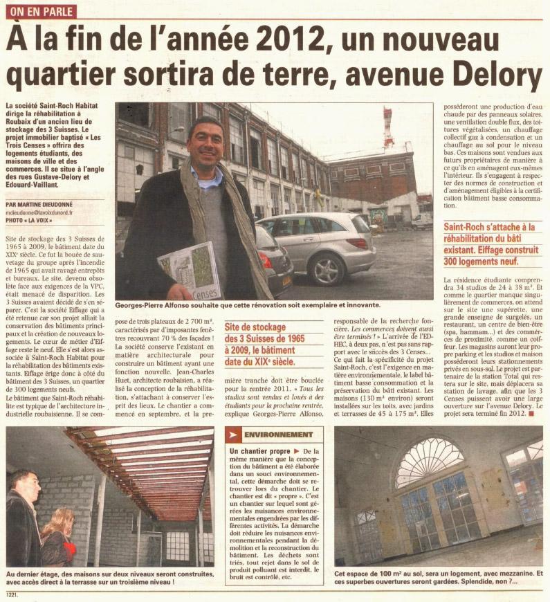 avenue Delors Roubaix projet immobilier